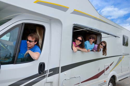 Family in Motorhome